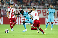 Tanguy Ndombele of Tottenham Hotspur in action with Guilherme of Olympiacos Fc, during the UEFA Champions League match between Olympiacos Fc and Tottenham Hotspur, in Karaiskaki Stadium in Piraeus, Greece. Wednesday 18 September 2019