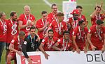 27.06.2020, Fussball: nph00001 1. Bundesliga 2019/2020, 34. Spieltag, VfL Wolfsburg - FC Bayern Muenchen, in der Volkswagen-Arena Wolfsburg. Siegerehrung nach dem Spiel: Der FC Bayern München feiert den Gewinn der 30. Deutschen Meisterschaft. <br /><br />Foto: Bernd Feil/M.i.S./ /Pool/nordphoto<br /><br />Nur für journalistische Zwecke! Only for editorial use! <br /><br />Gemäß den Vorgaben der DFL Deutsche Fussball: nph00001 Liga ist es untersagt, in dem Stadion und/oder vom Spiel angefertigte Fotoaufnahmen in Form von Sequenzbildern und/oder videoähnlichen Fotostrecken zu verwerten bzw. verwerten zu lassen. DFL regulations prohibit any use of photographs as image sequences and/or quasi-video.    <br /><br />National and international NewsAgencies OUT.