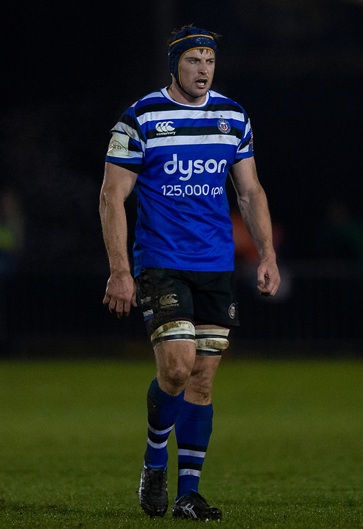 Bath Rugby's Paul Grant<br /> <br /> Photographer Bob Bradford/CameraSport<br /> <br /> Gallagher Premiership - Bath Rugby v Gloucester Rugby - Monday 4th February 2019 - The Recreation Ground - Bath<br /> <br /> World Copyright &copy; 2019 CameraSport. All rights reserved. 43 Linden Ave. Countesthorpe. Leicester. England. LE8 5PG - Tel: +44 (0) 116 277 4147 - admin@camerasport.com - www.camerasport.com