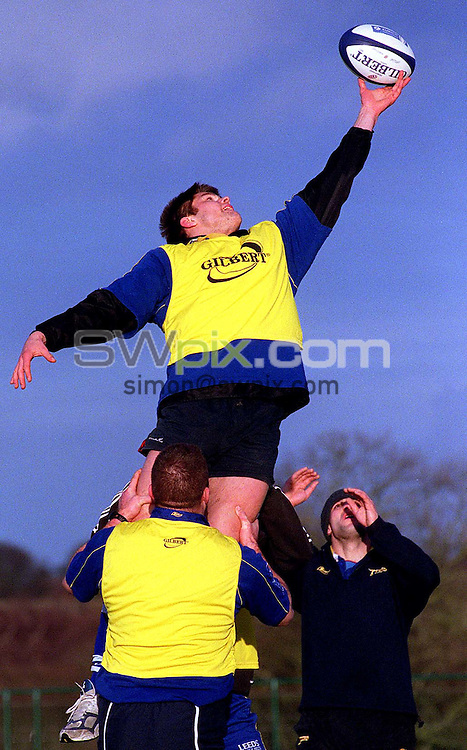 Pix: Ben Duffy/SWpix.com.....Zurich Premiership Rugby Union...Tom Palmer-Leeds Tykes.....17/01/2002...COPYWRIGHT PICTURE>>SIMON WILKINSON>>01943 436649>>..Tom Palmer of Leeds Tykes rugby Union club, pictured at his teams training ground in Adel, Leeds