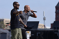 Washington, DC - April 18, 2015: Grammy Award winning singer/song writer Usher performs with hip-hop artist Common at the annual Earth Day concert on the National Mall in the District of Columbia April 18, 2015. The concert, sponsored by Earth Day Network and The Global Poverty Project, promotes ending extreme poverty and solving climate change.  (Photo by Don Baxter/Media Images International)