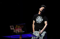 LONDON, ENGLAND - NOVEMBER 10: Andrew Fearn of 'Sleaford Mods' performing at Camden Roundhouse on November 10, 2016 in London, England.<br /> CAP/MAR<br /> &copy;MAR/Capital Pictures /MediaPunch ***NORTH AND SOUTH AMERICAS ONLY***