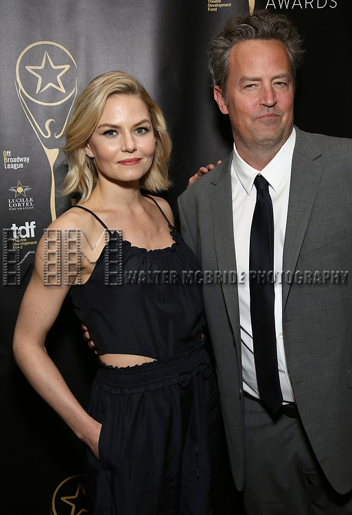 Jennifer Morrison and Matthew Perry  attends 32nd Annual Lucille Lortel Awards at NYU Skirball Center on May 7, 2017 in New York City.