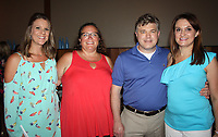 NWA Democrat-Gazette/CARIN SCHOPPMEYER Audre Darling, Jackson L. Graves Foundation executive director (from left), Karmen Brehmer, Red White and Baby Blue auction chairwoman, Jason and Maria Hurt, event chairwoman gather at the benefit.