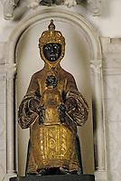 Europe/France/Auvergne/15/Cantal/Aurillac: Eglise Notre Dame des Neiges - Détail Vierge noire