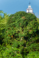 Indonesia, Sumatra. Samosir. Danau Toba. Bell tower, the Batak's are mostly Christian.