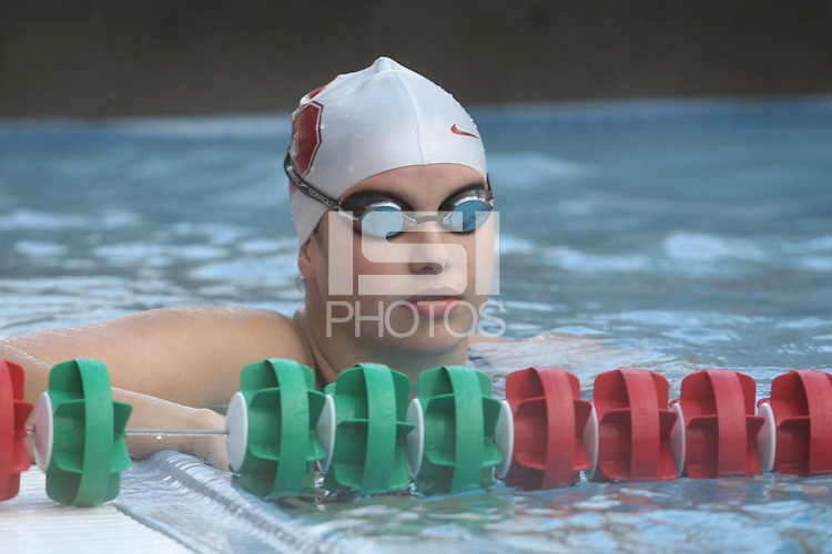 STANFORD, CA - JANUARY 22:  Natalie Durant of the Stanford Cardinal during Stanford's 173-125 win over Arizona on January 22, 2010 at the Avery Aquatic Center in Stanford, California.