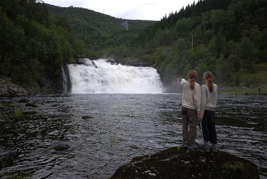 Waterfall,Norway Landscape, landskap,