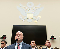 Acting United States Attorney General Matthew G. Whitaker appears before the US House Judiciary Committee on Capitol Hill in Washington, DC, February 8, 2019. Credit: Chris Kleponis / CNP/AdMedia