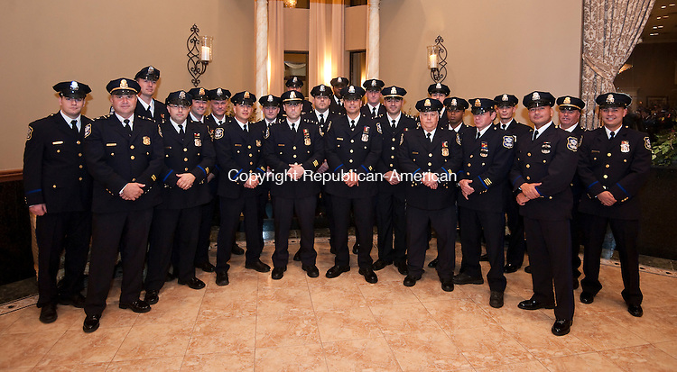 WATERBURY,  CT-111616JS05-Members of the Waterbury Police vice Squad and Street Crimes Unit were some of the many groups and individuals being honored during the Waterbury Police Department's 2016 Recognition Awards Ceremony Wednesday at La Bella Vista in Waterbury.  <br /> Jim Shannon Republican American