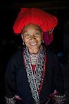 Red Dzao ethnic Hmong tribe woman, Northern Vietnam.