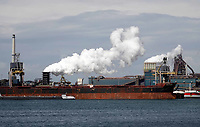 Nederland -  Velsen - 2019.    Tata Steel, de vroegere Hoogovens.   Foto Berlinda van Dam / Hollandse Hoogte