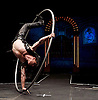 The Raunch <br /> London Wonderground, Southbank, London, Great Britain <br /> press photocall <br /> 10th May 2016 <br /> <br /> Jo Moss - Cyr Wheel <br /> <br /> <br /> <br /> Photograph by Elliott Franks <br /> Image licensed to Elliott Franks Photography Services