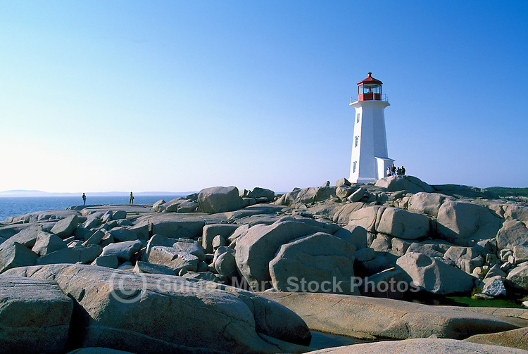 Peggys Cove (Peggy's Cove), NS, Nova Scotia, Canada - Peggys Point Lighthouse (built 1914) on Atlantic East Coast