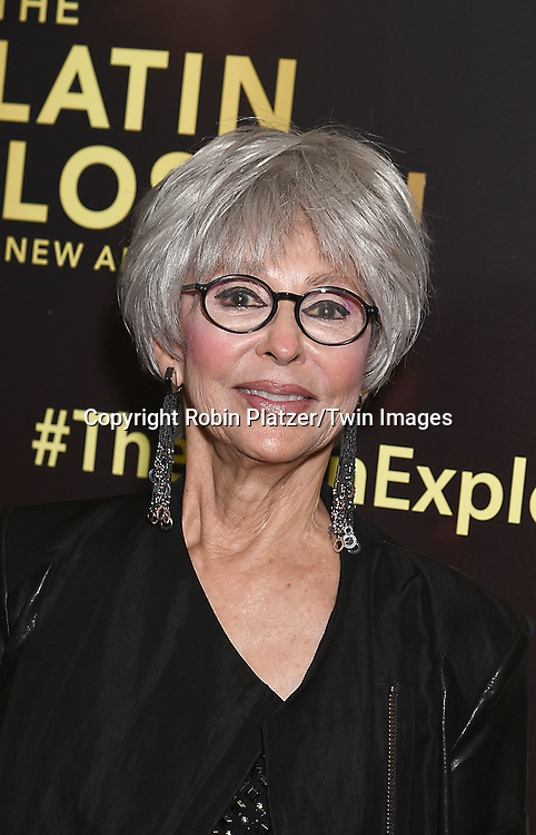 Rita Moreno attends the HBO premiere of &quot;The Latin Explosion: A New America&quot; on November 10, 2015 at the Hudson Theater in New York City, New York, USA.<br /> <br /> photo by Robin Platzer/Twin Images<br />  <br /> phone number 212-935-0770