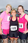 Pictured at the Kerryhead Half Marathon in Ballyheigue on Sunday, from left: Aideen Shinners (Limerick), Debbie O'Halloran (Ballyheigue) and Catriona O'Dwyer (Tipperary)..