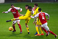 Burton Albion's Scott Fraser competes with Fleetwood Town's Dean Marney<br /> <br /> Photographer Richard Martin-Roberts/CameraSport<br /> <br /> The EFL Sky Bet League One - Saturday 15th December 2018 - Fleetwood Town v Burton Albion - Highbury Stadium - Fleetwood<br /> <br /> World Copyright &copy; 2018 CameraSport. All rights reserved. 43 Linden Ave. Countesthorpe. Leicester. England. LE8 5PG - Tel: +44 (0) 116 277 4147 - admin@camerasport.com - www.camerasport.com