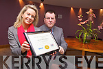 Award: Accommodation manager Cathy Rael and General Manager Denis Deery from The Carlton Hotel, Fels Point, Tralee with the Gold Award from the IASI for Accommodation Services in the hotel.