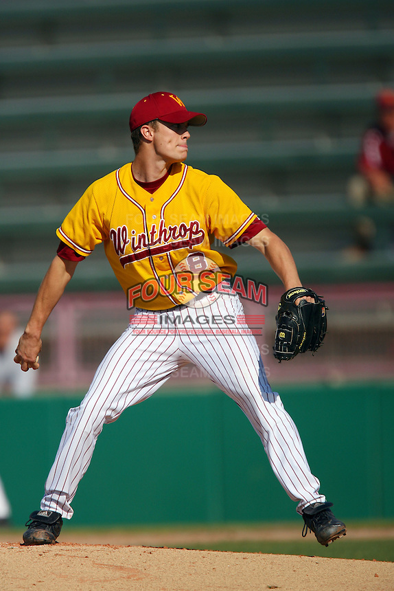 March 16 2009: Robert Lake of the Winthrop Eagles during game against the USC Trojans at Dedeaux Field in Los Angeles,CA.  Photo by Larry Goren/Four Seam Images