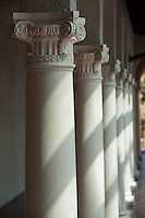 Detail, columns, Branca Patio, 2009. (Photo by Marc Campos, Occidental College Photographer)