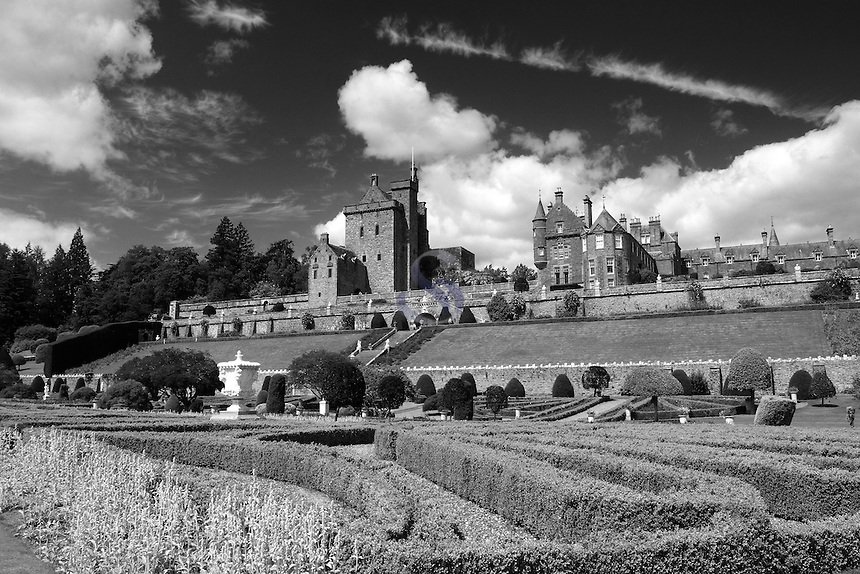 Drummond Castle and Drummond Castle Gardens, Crieff, Perthshire