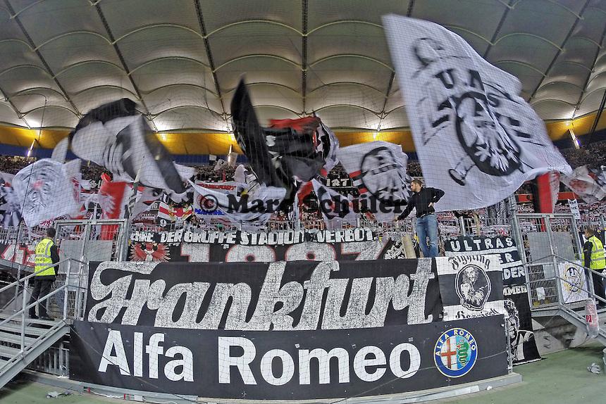 Fans von Eintracht Frankfurt - Eintracht Frankfurt vs. 1. FSV Mainz 05, Commerzbank Arena