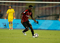 Franck Kessie  during the  italian serie a soccer match,  SSC Napoli - Milan      at  the San  Paolo   stadium in Naples  Italy , August 25, 2018