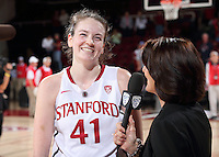 STANFORD, CA - February 15, 2015: Stanford Cardinal vs the UCLA Bruins at Maples Pavilion.  The Cardinal defeated the Bruins 68-50.