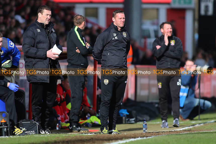 Notts County manager Kevin Nolan during Stevenage vs Notts County, Sky Bet EFL League 2 Football at the Lamex Stadium on 4th March 2017