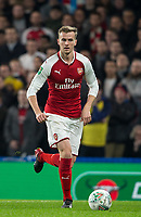 Rob Holding of Arsenal during the Carabao Cup semi final 1st leg match between Chelsea and Arsenal at Stamford Bridge, London, England on 10 January 2018. Photo by Andy Rowland.