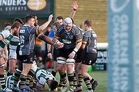 Nottingham Rugby FC survive an attack from Ealing Trailfinders RFC during the Championship Cup Quarter Final match between Ealing Trailfinders and Nottingham Rugby at Castle Bar , West Ealing , England  on 2 February 2019. Photo by Carlton Myrie / PRiME Media Images.