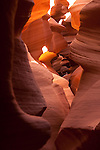 Sandstone walls of the Lower Antelope slot Canyon