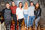 Aaron Roche, Siobhan Long, Sarah and Amy McLoughlan, David Long and Clodagh Shanahan enjoying the night in the Fiddler Bar on Saturday night.