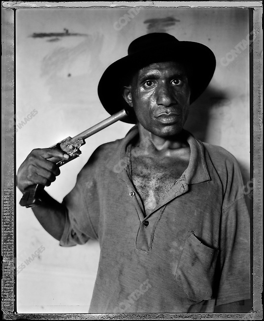 """Andy Kei Ook,"" Raskols, gangs of Port Moresby, Papua New Guinea, January 2004"