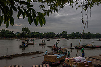 HIDALGO, MEXICO - OCTOBER 16:  Traders cross the river Suchiate that intersects the Hidalgo/Tecun Uman Mexican border crossing with Guatemala on the 16th of October, 2015 in Ciudad Hidalgo, Mexico. <br /> Daniel Berehulak for The New York Times