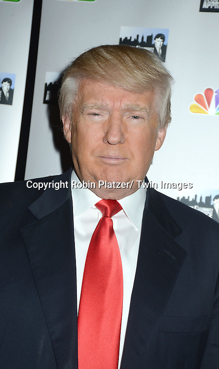 "Donald Trump attends the press Event for Omarosa Manigault's firing from "" The Celebrity Apprentice"" on April 1, 2013 at Trump Tower in New York City"