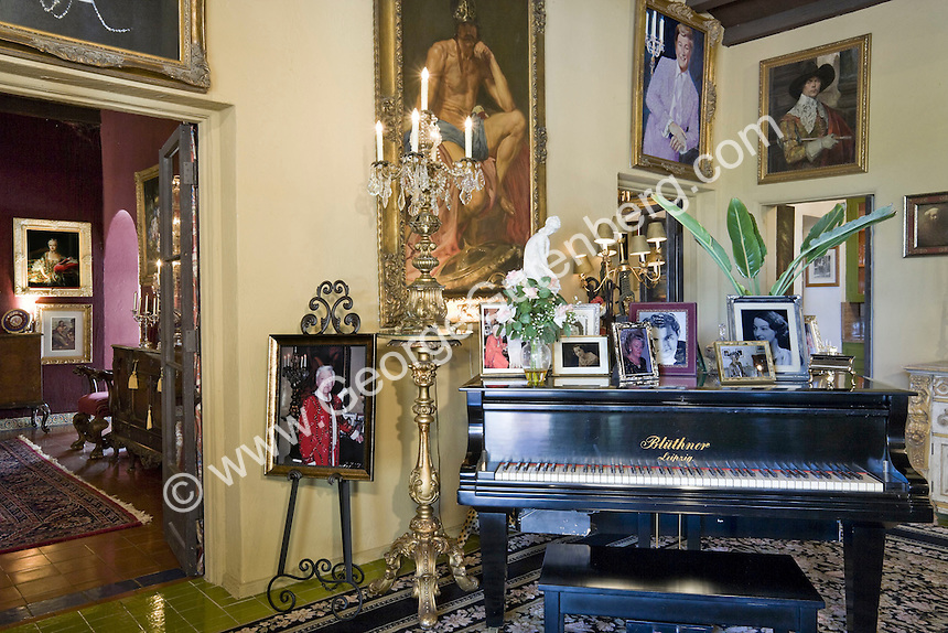 Liberace's music room in Palm Springs house