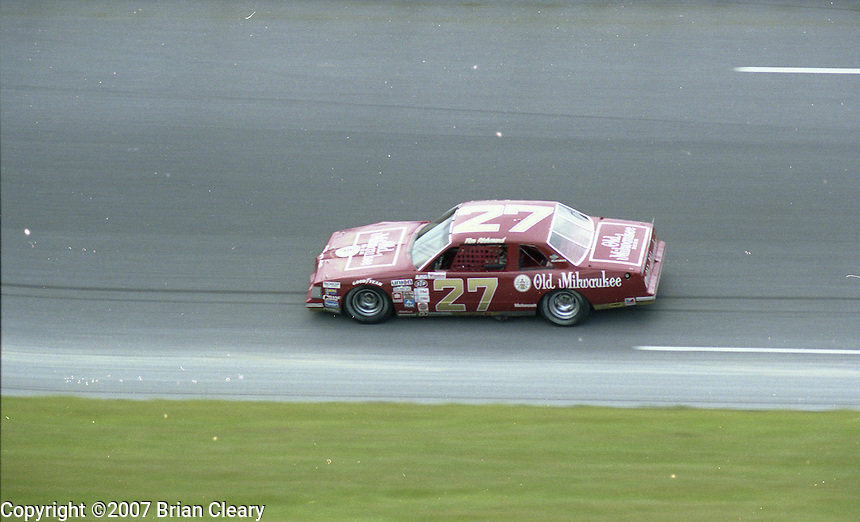 Firecracker 400 at Daytona International Speedway in Daytona Beach, FL on July 4, 1983. (Photo by Brian Cleary/www.bcpix.com)