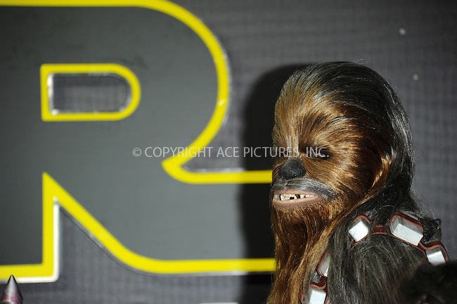 WWW.ACEPIXS.COM<br /> <br /> December 16 2015, London<br /> <br /> Atmosphere at the European Premiere of 'Star Wars: The Force Awakens' in Leicester Square on December 16, 2015 in London, England.<br /> <br /> By Line: Famous/ACE Pictures<br /> <br /> <br /> ACE Pictures, Inc.<br /> tel: 646 769 0430<br /> Email: info@acepixs.com<br /> www.acepixs.com
