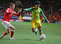 Matheus Pereira of West Bromwich Albion goes past Alfie Doughty of Charlton Athletic during Charlton Athletic vs West Bromwich Albion, Sky Bet EFL Championship Football at The Valley on 11th January 2020