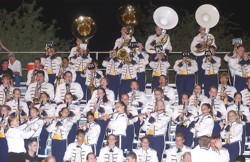 Flowing Wells High School brought along its Marching Band for Thursday night's matchup at Canyon Del Oro High School.9/25/2003