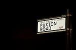 Tottenham Hotspur 0 Lazio 0, 20/09/2012. White Hart Lane, Europa League. Paxton Road sign. Photo by Simon Gill.