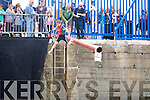 A young boy falls from the balancing pole at the Fenit Regatta on Sunday