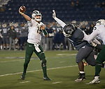 Colorado State quarterback Collin Hill (15) runs against Nevada in the second half of an NCAA college football game in Reno, Nev., Saturday, Nov. 10, 2018. (AP Photo/Tom R. Smedes)