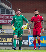 Goalkeeper Sam Sargeant of Leyton Orient & Callum Kennedy of Leyton Orient during the Sky Bet League 2 match between Leyton Orient and Wycombe Wanderers at the Matchroom Stadium, London, England on 1 April 2017. Photo by Andy Rowland.