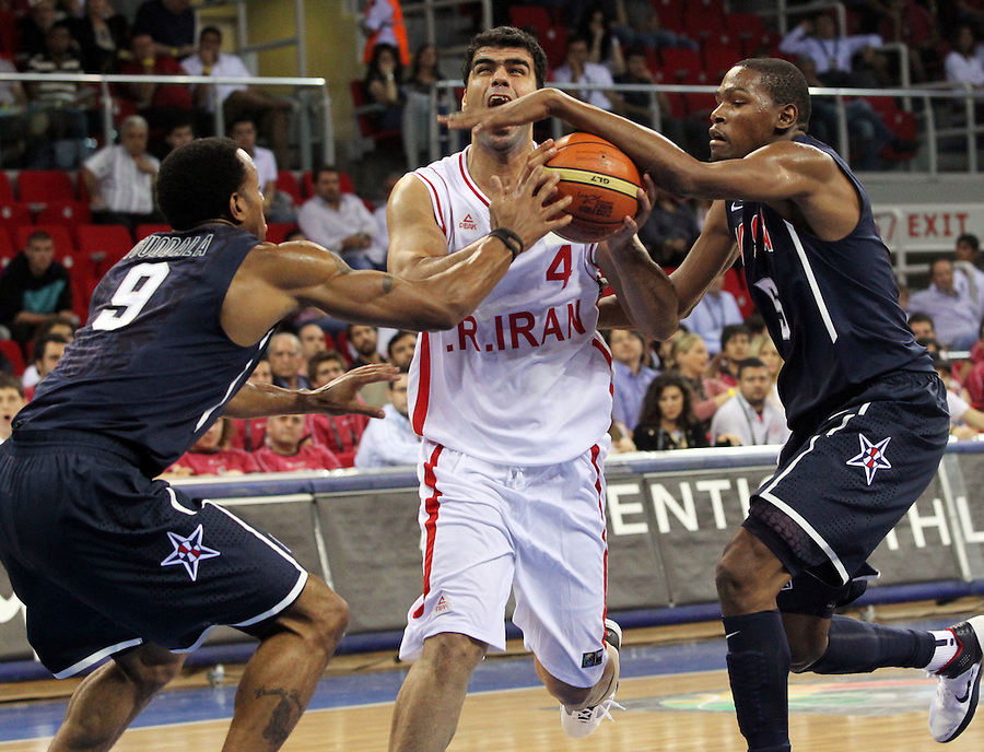 USA team vs Iran at basketball world championships Istanbul. Kevin Durant