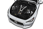 Car Stock 2017 Infiniti Q60 Premium 2 Door Coupe Engine  high angle detail view