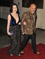 Dita Von Teese and Christian Louboutin at the London Evening Standard Theatre Awards 2016, The Old Vic, The Cut, London, England, UK, on Sunday 13 November 2016. <br /> CAP/CAN<br /> &copy;CAN/Capital Pictures /MediaPunch ***NORTH AND SOUTH AMERICAS ONLY***
