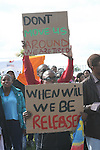 Asylum seekers in Co Meath are protesting this morning as 150 people are being moved to alternative accommodation..Photo NEWSFILE/Jenny Matthews.(Photo credit should read Jenny Matthews/NEWSFILE)....This Picture has been sent you under the condtions enclosed by:.Newsfile Ltd..The Studio,.Millmount Abbey,.Drogheda,.Co Meath..Ireland..Tel: +353(0)41-9871240.Fax: +353(0)41-9871260.GSM: +353(0)86-2500958.email: pictures@newsfile.ie.www.newsfile.ie.FTP: 193.120.102.198.