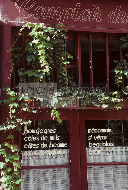 "Europe/France/Rhône-Alpes/69/Rhône/Lyon: Bouchon lyonnais ""Le Comptoir du Boeuf"" place Neuve Saint-Jean"